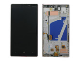 Nokia Lumia 930 Дисплей с сенсором и передней панелью, Silver, 00812K8 (оригинал)