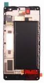 Nokia 730/ 735 Дисплей с сенсором и передней панелью (Black), 00813B2 (оригинал)
