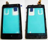 Сенсор (тачскрин) с передней панелью Microsoft 435/ 532 Lumia, 00813L3 (оригинал)
