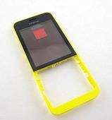 Nokia 220 Передняя панель (желтая), 02506D9 (оригинал)