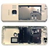 Nokia 6300 Панель средняя (основа) белая, 0250741 (оригинал)