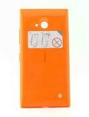 Nokia 730/ 735 Задняя панель, оранжевая (с боковыми кнопками), 02507Z5 (оригинал)