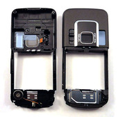 Nokia 6220с Панель средняя (основа) черная, 0250817 (оригинал)