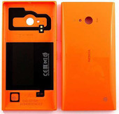 Nokia Lumia 735 Задняя панель с функцией беспроводной зарядки, оранжевая, 02508B0 (оригинал)