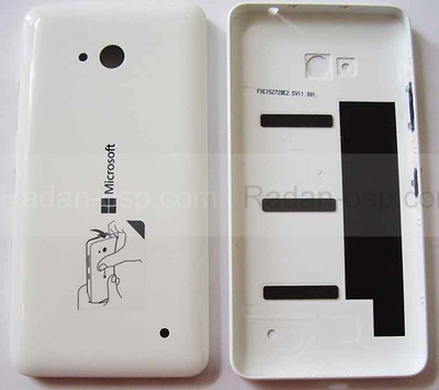Кришка батареї Microsoft Lumia 640 (White) глянець, 02509H7 (оригінал)