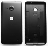 Кришка задня Microsoft Lumia 550 (чорна матова), 02510N2 (оригінал)