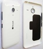 Крышка батареи Microsoft Lumia 640 XL (глянцевая белая), 02510S2 (оригинал)