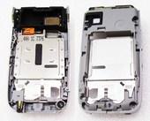 Nokia 6085 Панель средняя (основа) нижнего флипа серебро, 0251243 (оригинал)
