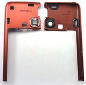 Nokia E90 Крышка задняя красная, 0251904 (оригинал)