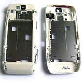 Nokia E66 Панель средняя (основа) белая, 0252380 (оригинал)