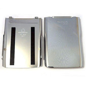 Nokia E71 Крышка батарейная светлый хром, 0252579 (оригинал)
