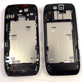 Nokia E66 Панель средняя (основа) черная, 0253056 (оригинал)