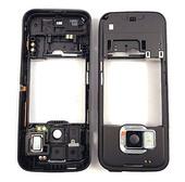 Nokia N78 Панель средняя (основа) черная, 0253766 (оригинал)