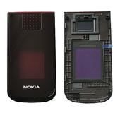 Nokia 2720f Крышка верхняя верхнего флипа красная, 0254251 (оригинал)
