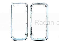 Средняя рама корпуса Nokia 5228/ 5230 с толкателем кнопки on/ off, White, 0255624 (оригинал), radan-osp.com - оригинальные комплектующие, фото