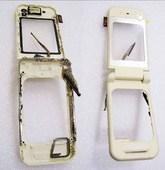 Nokia 7390 Раскладушка в сборе белая, 0256601 (оригинал)