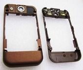 Nokia 7390 Панель средняя нижнего флипа коричневая, 0256609 (оригинал)