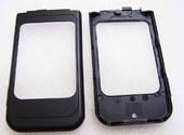 Nokia 7390 Крышка малого дисплея черная, 0256880 (оригинал)