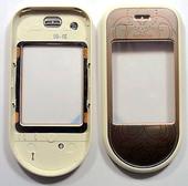 Nokia 7373 Крышка дисплейная розовая, 0256991 (оригинал)