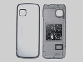 Nokia 5228/ 5230 Крышка батерейная со стилусом серебро, 0257017 (оригинал)