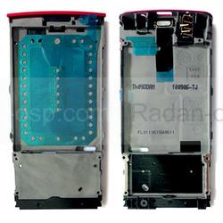 Nokia X3-02 Основа дисплейная розовая, 0257579 (оригинал), radan-osp.com - оригинальные комплектующие, фото
