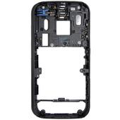 Nokia N85 Панель средняя (основа) с разъемами, вибро, антенной, музыкальным динамиком черная, 0264801 (оригинал)