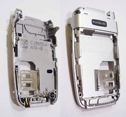 Nokia 6103 Основа нижнього фліпа срібляста, 0268991 (оригінал)