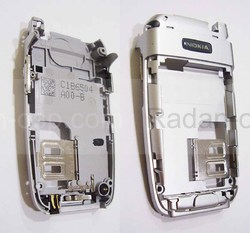 Nokia 6103 Основа нижнего флипа серебристая, 0268991 (оригинал), radan-osp.com - оригинальные комплектующие, фото