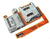 Sony W890I Комбинированный считыватель SIM/ M2 карт на плате со шлейфом, 1200-8241 (оригинал)