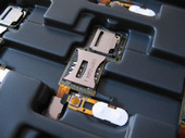 Sony C902/ C902BOND Комбинированный считыватель SIM/ M2 карт, 1201-9906 (оригинал)