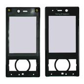 Sony G705 Передняя панель корпуса с защитным стеклом дисплея, Black, 1207-8592 (оригинал)