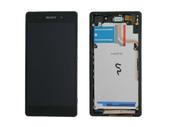 Sony D6502/ D6503 Сенсор с дисплеем и передней панелью, Black, 1281-8358 (оригинал)