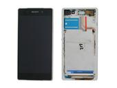 Sony D6502/ D6503 Сенсор с дисплеем и передней панелью White, 1281-8359 (оригинал)