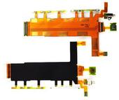 Шлейф Sony Xperia Z3 D6633 основной в сборе с боковыми кнопками, вибромотором и микрофоном, 1285-7754 (оригинал)