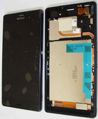 Сенсор с дисплеем и передней панелью Sony Xperia Z3 Dual D6633 Black, 1288-5869 (оригинал)