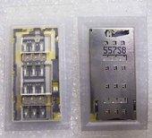 Разъем SIM Dual Nano Sony Xperia Z3+ dual, 1288-8200 (оригинал)