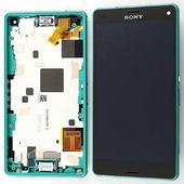 Sony D5803/ D5833 Сенсор с дисплеем и передней панелью, Green, 1289-2707 (оригинал)