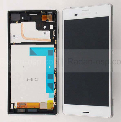 Sony D6603/ D6643/ D6653 Передняя панель с сенсором и дисплеем, White, 1290-6075 (оригинал)