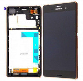 Sony D6603/ D6643/ D6653 Передняя панель с сенсором и дисплеем, медно-красная, 1290-6076 (оригинал)