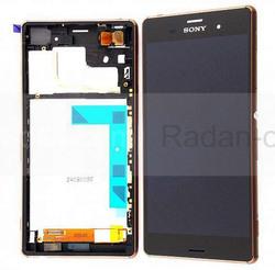 Sony D6603/ D6643/ D6653 Передня панель з сенсором і дисплеєм, мідно-червона, 1290-6076 (оригінал), radan-osp.com - оригінальні комплектуючі, фото