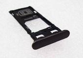Держатель SIM, SD с заглушкой Sony Xperia X F5122 Dual (Black), 1302-4834 (оригинал)
