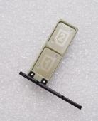 Держатель SIM с заглушкой Sony Xperia XA1 G3112 (Black), 306J1X60C00 (оригинал)