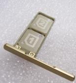 Держатель SIM с заглушкой Sony Xperia XA1 G3112 (Gold), 306J1X60X00 (оригинал)