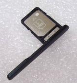 Заглушка со слотом sim карты Sony Xperia XA2 Dual H4113/ Xperia XA2 H3113 (Black), 306J24S0200 (оригинал)