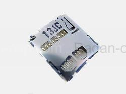 Разъем карты памяти (MicroSD) Samsung B7722/ C3510/ C3530/ C3560/ C6712/ E2152/ E2252/ E2330/ E2530, 3709-001575 (оригинал), radan-osp.com - оригинальные комплектующие, фото