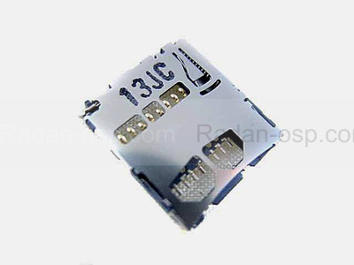 Разъем карты памяти (MicroSD) Samsung B7722/ C3510/ C3530/ C3560/ C6712/ E2152/ E2252/ E2330/ E2530, 3709-001575 (оригинал)