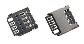 Разъем SIM-карты Samsung J110H/ S7390/ G130E/ G313H/ G313HN/ G313HU, 3709-001830 (оригинал)