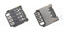 Разъем SIM-карты Samsung J110H/ S7390/ G130E/ G313H/ G313HN/ G313HU, 3709-001830 (оригинал), radan-osp.com - оригинальные комплектующие, фото