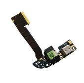 HTC One M8 Разъем MicroUSB на шлейфе с разъемом наушников и микрофоном, 51H10234-17M (оригинал)