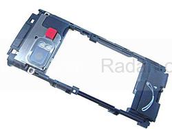 Nokia X6-00 Основа (антенный модуль) черная, 5650764 (оригинал), radan-osp.com - оригинальные комплектующие, фото